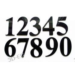 Numer Numery Cyfry Cyferki na Drzwi Czarna Plexy Tablice i szyldy
