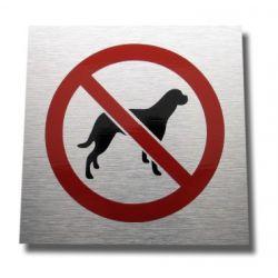 Piktogram  Znak  Zakaz Wprowadzania Psów aluminium