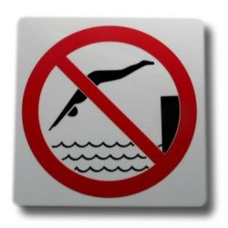 Piktogram, symbol, znak Zakaz Skakania do Wody Pozostałe