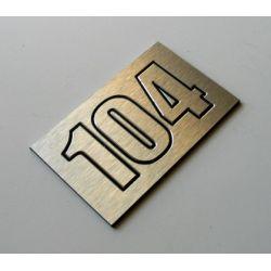 Numer Numery Cyfry Grawerowane na Drzwi aluminium3