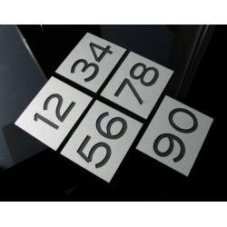 Numer Numery Cyfra Grawer na Drzwi z aluminium B2 Muzyka i Instrumenty
