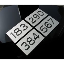 Numer Numery Cyfra Grawer na Drzwi z aluminium B3 Muzyka i Instrumenty