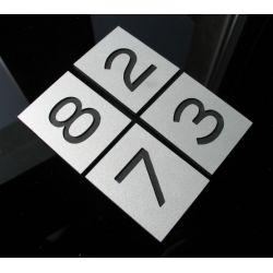 Numer Numery Cyfra Grawer na Drzwi z aluminium B1 Muzyka i Instrumenty