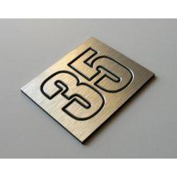 Numer Numery Cyfry Grawerowane na Drzwi aluminium2 Muzyka i Instrumenty
