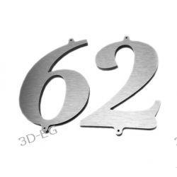CYFRA 16 cm NUMER NUMERY NA DOM DIBOND STAL/ZŁOTO + ŚRUBY  Muzyka i Instrumenty