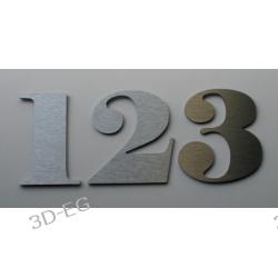 Numer Numery Cyfry na Drzwi z aluminium 9 cm Muzyka i Instrumenty