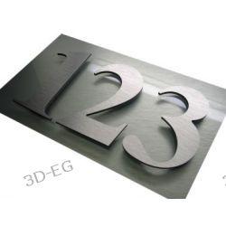Numer Numery Cyfry na Drzwi z aluminium wys. 9 cm TM Identyfikatory