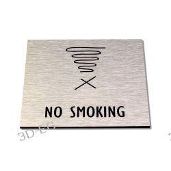 Piktogram, Symbol, Znak, Zakaz Palenia Srebro 12x12cm SŚS  Obrazki i obrazy