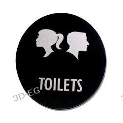 Piktogram Symbol WC Toaleta Koedukacyjna SP EN