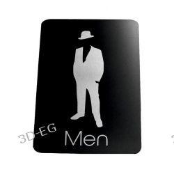 Piktogram Symbol Znak Tolaeta WC dla Mężczyzn SE Tablice i szyldy