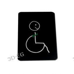 Piktogram Symbol Znak WC dla Niepełnosprawnych SM