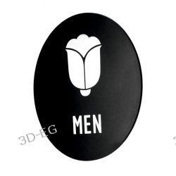 Piktogram Symbol Znak Tolaeta WC dla Mężczyzn SK Dom i Ogród