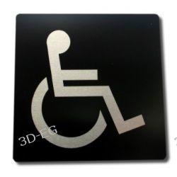 Piktogram, Symbol, Drzwi - Toaleta Niepełnosprawni 9x9 Dom i Ogród