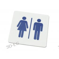 Piktogram, Symbol, Znak - WC Toaleta Koedukacyjna Tablice i szyldy
