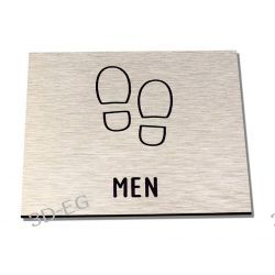 Piktogram, Symbol, WC TOALETA MĘSKA ALU SŚS Dom i Ogród