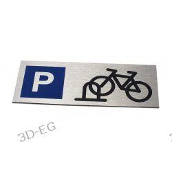 Tabliczka Stojak, Parking dla Rowerów - 21x8 cm Pozostałe