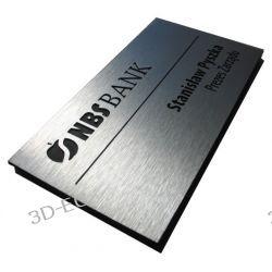 Tabliczka informacyjna na drzwi z aluminium 18x9cm