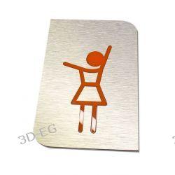 Piktogram, Symbol,WC, Toaleta Damska Niebieska lub Pomarańczowa SAp Drzwi