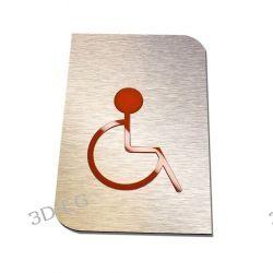 Piktogram, Symbol,WC, Toaleta dla Niepełnosprawnych Niebieska lub Pomarańczowa SAp Muzyka i Instrumenty