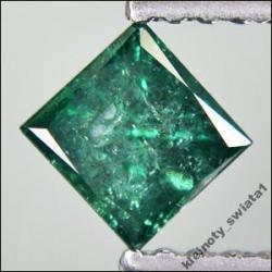 Naturalny Błękitno-Zielony Diament Princess 0.45