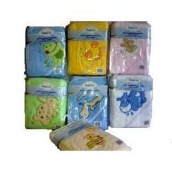 Mięciutki ręcznik 76x76 cm, okrycie kąpielowe z kapturkiem 170 - BabyOno
