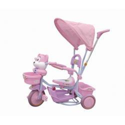 Rowerek trółkołowy różowy myszka z baldachimem 7423 - Baby Ono