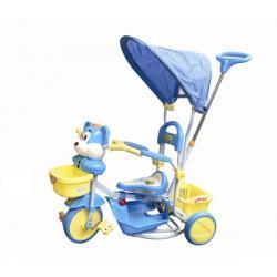 Rowerek trółkołowy niebieski myszka z baldachimem 7416 - Baby Ono
