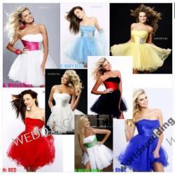 ślubno-wieczorowe suknie 12 kolorów