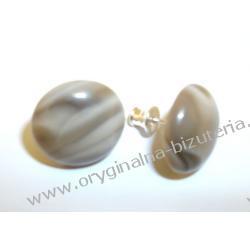 Przepiękne kolczyki z polskim diamentem