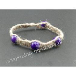 Bransoletka - Marmurowy fiolet