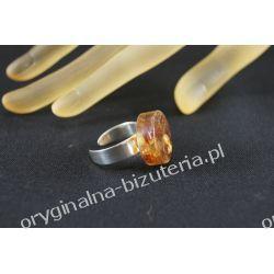 Pierścionek - Bursztynowy drops Biżuteria i Zegarki