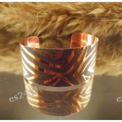 Zebra - Miedziana bransoleta