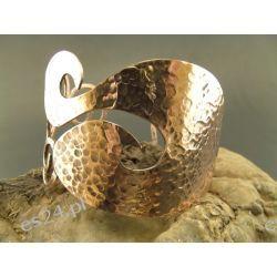 Miedziana bransoleta - Uroczy gryzmoł
