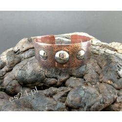Bransoletka - Potrójne srebrne oczko  Na rękę