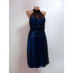 sukienka 'MARIKA LINE' czarno niebieska roz.40