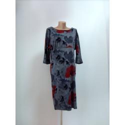 sukienka w czerwone kwiaty 'ADIKA COLLECTION'roz.46