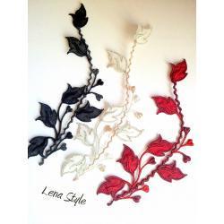aplikacja haftowana - kwiaty