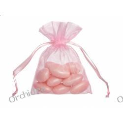 Woreczki z organzy dla gości 7,5x10cm - j. róż,gładkie ,