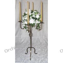 Dekoracje ślubne stołu : świeczniki