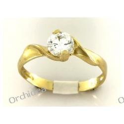 Pierścionek zaręczynowy złoty,
