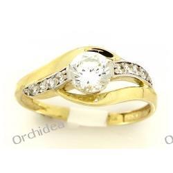 Pierścionek zaręczynowy , złoto