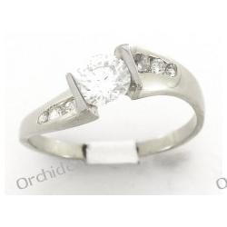 Pierścionek zaręczynowy , białe złoto