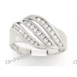 Pierścionek zaręczynowy, bialłe złoto