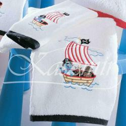 Ręczniki dla dzieci PIRATE marki TAC - komplet kolor biało-czarny...
