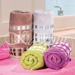 Ręczniki frotte KWADRO kolor fioletowy 50x90 o gramaturze 500g/m2...