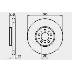 TARCZE PRZÓD BOSCH VOLVO S80 V70 XC70 2.4 2.0 2.5