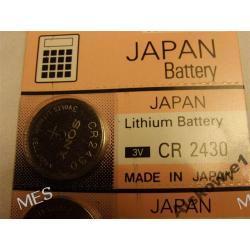 Baterie litowe 3V  CR 2430 ( SONY)  - szt