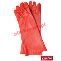 Rękawice kwasoodporne z PCV - 1 para olejoodporne chemoodporne RPCV40