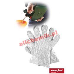 Rękawice ochronne foliowe RFOLIA roz. L - 100 szt [1966] Pozostałe