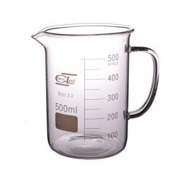 [2106] Zlewka szklana niska z uchem 500 ml - 1 szt Laboratorium